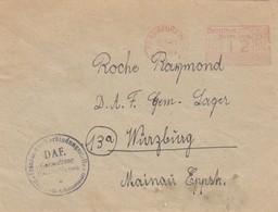 LETTRE. REICH. 18 1 45. FRANKFURT POUR D.A.F. GEM-LAGER 13a WÜRZBURG - Duitsland
