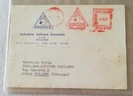 EMA, Cartolina Manoliva Industria Italiana Fazzoletti Milano - 17/07/1970 - Affrancature Meccaniche Rosse (EMA)