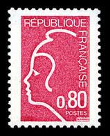 N°1862B, NON EMIS: Marianne De Durrens (1975), 80c ROSE FONCE Provenant De La Seule Feuille Connue. R.R. Et SUP (certifi - Ongebruikt