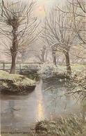 "8""G. Gretty. Country Charms. Winter Lndscape Tuck Oiette PC # 1408 - Tuck, Raphael"