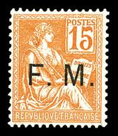 N°1, 15c Mouchon, Très Bon Centrage. SUP  Qualité: **  Cote: 345 Euros - Franchise Stamps