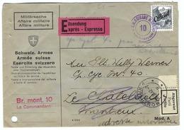SUISSE 1942:  LSC  Militaire Du 25.III.42 Pour Montreux Avec Le ZNr.54 (TP De Service)   B à TB - Militaire Post