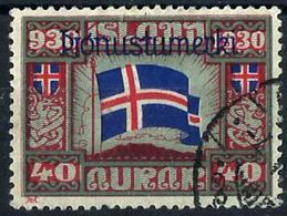 Islandia Servicio Nº 53 Usado. Cat.25€ - Oficiales