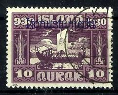 Islandia Servicio Nº 47 Usado. Cat.25€ - Oficiales