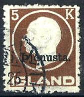 Islandia Servicio Nº 43 Usado. Cat.25€ - Oficiales