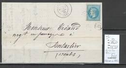 France - Lettre - GC3120 -yvert 29-  REVIGNY - Meuse + OR - IDENTIFIE DE MAISON DU VAL - 1870 - 1849-1876: Klassik