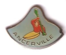 X162 Pin's Village Ancerville Meuse Club Canoë Kayak Achat Immédiat - Canoa
