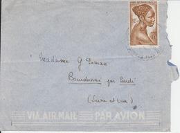 Timbre D'Afrique Équatoriale Française Sur Lettre - A.E.F. (1936-1958)