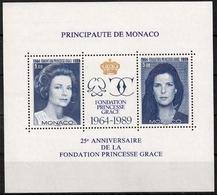 Monaco MiNr. Bl. 46 ** 25 Jahre Fürstin-Gracia-Stiftung - Monaco
