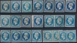 DI-481: FRANCE: Lot De Bleus Obl N°10(2)-14(16)-29(4) - Non Classificati