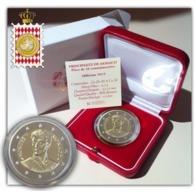 """Monaco 2019 : 2 Euro Commémorative """"200 Ans Accession Au Trône De Honoré V""""   (BE Et En Coffret) - DISPO EN FRANCE - Mónaco"""