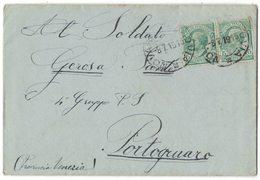 IZ383   Regno 1915 Lettera Con Testo Da Novara Per Portogruaro - Marcophilie