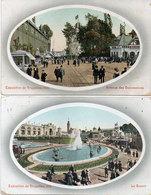 Exposition De BRUXELLES 1910 - 2 CPA - Le Bassin - Avenue Des Concessions .(118140) - Universal Exhibitions
