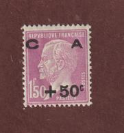 251 De 1928 - Neuf * *  -  Au Profit De La Caisse D'Amortissement . Type Pasteur Surchargé - Voir Les 2 Scannes - Cassa Di Ammortamento