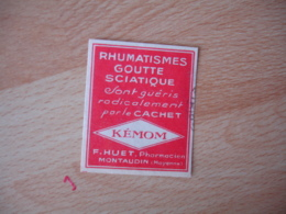 Pharmacie Sante Montauban Huet Pharmacien Kemon  Erinnophilie  Vignette Timbre - Sonstige