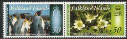 2014 Falkland Islands  Colour In Nature  Penguids Flowers Birds Complete Set Of 2 Pairs MNH @FACE Value - Falkland