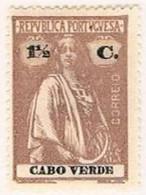 Cabo Verde, 1920/1, # 140 Dent. 15x14, Papel Liso, MH - Kapverdische Inseln