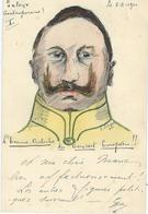 KAISER GUILLAUME II - CPA Faite Main - Encre De Chine - Signée Georges Leborgne Pièce Unique - 1900 - Satiriques