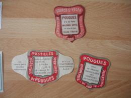 Lot De 3 Pougues Saint Leger Hotel Splendid Casino Etiquette  Pastille Medicament Nievre - Reclame