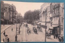 CPA - BIARRITZ - Place De La Liberté - Belle Animation: Cavaliers, Attelages, Promeneurs, Commerces: Biarritz Bonheur - Biarritz