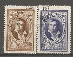 RUSSIE -  Yv N° 945,946  (o)  Krylov   Cote  0,8  Euro  BE - 1923-1991 USSR