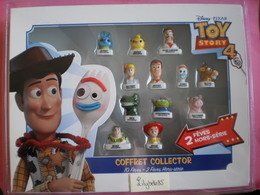Coffret Collector Série Complète De 10 Feves DISNEY + 2 Hors Séries TOY STORY 4 - 2020 ( Miniature Figurine Feve ) - Disney