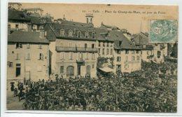 19 TULLE Carte RARE Num 22 Un Jour De Foire Place Du Champ De Mars Marché Aux Vaches 1906 Timb   D03 2020 - Tulle