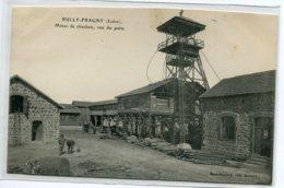 42 BULLY FRAGNY Carte RARE  Cour Batiments  Mines De Charbon Vue Du Puits Edit Mme Boulery 1910    D03 2020 - Autres Communes