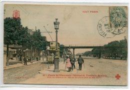 75 TOUT  PARIS 36 Couleur 1905 TRamway Double Etage Station Banlieu Pont Chemin De Fer De Ceinture  D03 2020 - Distretto: 20