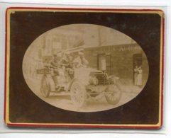 77 COULOMMIERS Photographie Rue De Paris Automobile Et Passagers LOURDIN Auberge D03 2020 - Coulommiers