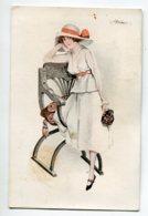ILLUSTRATEUR Suzanne MEUNIER Trottins De Paris No 7 Série 66  Elégante Jeune Femme  Fauteuil ART DECO    D03 2020 - Meunier, S.
