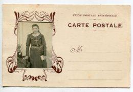PHOTOGRAPHIE Tirage Portrait D'une Jeune Fille 1900 Décor ART NOUVEAU   D03 2020 - Fotografia