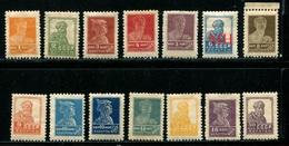 Russia 1925  Mi 271:285 IAX MNH  Typo, Wz.7 - Neufs