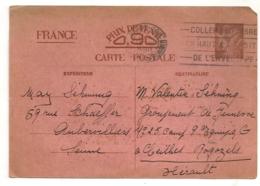 NOV 1940 DE PARIS  A CHANTIER DE JEUNESSE GROUPEMENT N° 25 / CEILHES ET ROCOZELS / HERAULT   C89 - Guerre De 1939-45