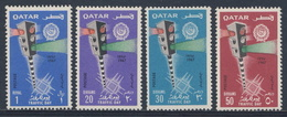 Qatar 1967 Mi 312 /5 SG 211 /4 ** Traffic Day / Tag Der Verkehrs : Traffic Lights / Verkehrsampel über Straßenkreuzung - Qatar