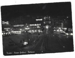 4025 - TRIESTE PIAZZA GOLDONI NOTTURNO 1952 - Trieste