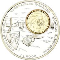 Espagne, Médaille, Monnaies Européennes, 2002, FDC, Cuivre Plaqué Argent - Espagne