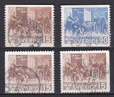 S126 – SUEDE – SWEDEN – 1941 – COMMEMORATING THE BIBLE – MI 281/82 USED - Suède