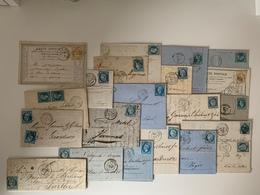 Lot De 21 Lettres Avec Gros Chiffres GC - 1871-1875 Ceres