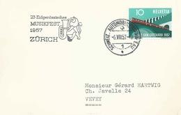 """Sonderstempel  """"Eidg. Musikfest, Zürich""""          1957 - Suisse"""