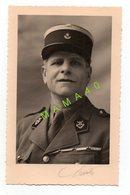 PHOTO - MILITARIA - PORTRAIT D'UN MILITAIRE AVEC KEPI - War, Military