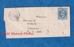 Lettre Ancienne De 1868 - ATTICHY ( Oise ) - Signée MARTIN Marchand De Beaux ? Veaux ? - Timbre Cachet - Francia