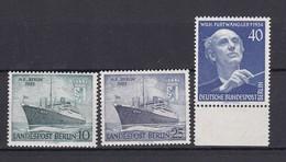 Berlin - 1955 - Michel Nr. 126/27+128 - Postfrisch - 47 Euro - Neufs