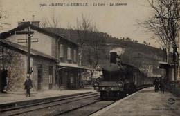 RPCP:Saint Remy Sur Durolle :La Gare Et Le Train La Monnerie,Train à Vapeur, Stoomtrein,  Photo D'une Ancienne CP - Métiers