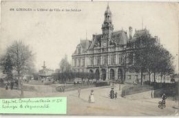 CPA Limoges L'Hôtel-de-Ville Et Les Jardins Cachet Militaire - Limoges