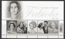 2015 Belgium Queen Fabiola Royalty  Souvenir Sheet  MNH  **BELOW FACE VALUE *** - Blocs 1962-....