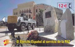 CP-261 TARJETA DE EL EJERCITO ESPAÑOL EN BOSNIA DEL 1/03 Y TIRADA 50200 - Herdenkingsreclame