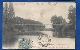 BAR-sur-SEINE    Le Pont Suspendu    écrite En 1904 - Bar-sur-Seine