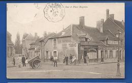 ROMILLY    Rue Et Place Magenta    Café Restaurant De La Place  Animées   écrite En 1905    Voir Scann - Romilly-sur-Seine