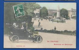 De TROYES  Recevez Ce Souvenir   Voiture   Animées       écrite En 1908 - Troyes